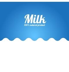 Milk wave background label concept vector