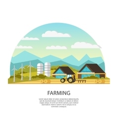 Modern farming template vector