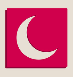 Moon sign grayscale version vector