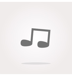 Note full music web icon button vector