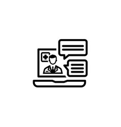 Online medical services icon flat design vector