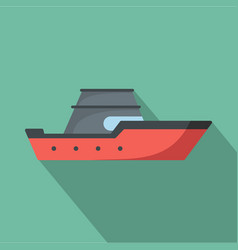 ship transport icon flat style vector image