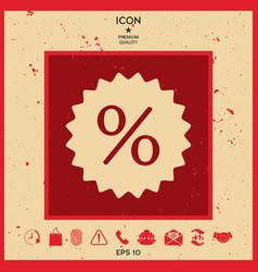 sign percent symbol discount icon vector image
