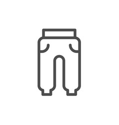 Sport trousers line icon vector