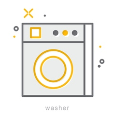 Thin line icons Washer vector image vector image