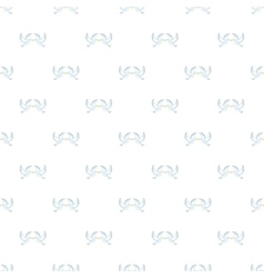 Two white pigeons pattern cartoon style vector image vector image