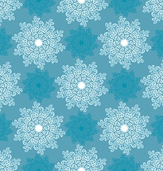 White and blue snowflake vector