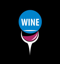 wine logo vector image vector image