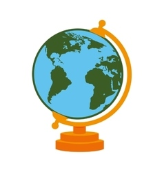 World map school cartoon isolated vector