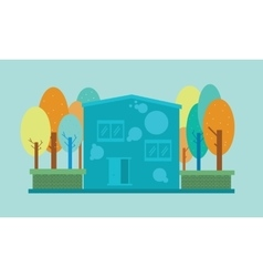 House and tree design vector
