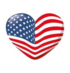 Heart love america usa vector