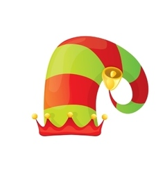 Stripped cartoon christmas elf hat vector