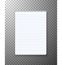 Realistic notepad office equipment paper notepad vector