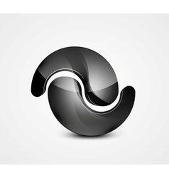 Abstract black shape business symbol vector image