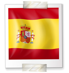 Spain flag on square paper vector