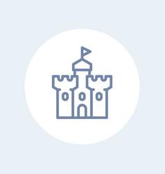 Castle fortress line icon vector