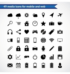Icons for web mobile vector