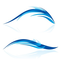 Smooth abstract forms in blue vector image