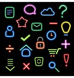 Neon icons vector