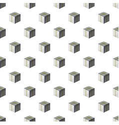 Cardboard box taped up pattern vector