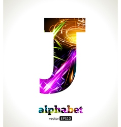 Design abstract letter j vector
