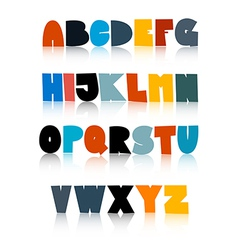 Colorful funny alphabet set isolated on white vector