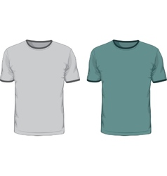 Mens t shirts design template vector image