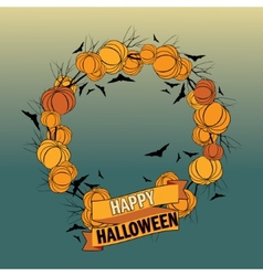 Halloween wreath 5 vector