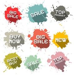 Blots - Splashes Business Discount Labels vector image