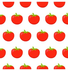 Seamless pattern with red tomatoes vector