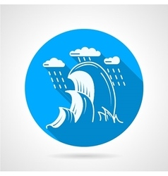 Sea wave round icon vector