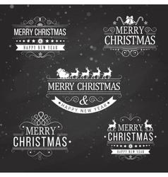 Christmas decoration collection of calligraphic vector