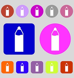 Plastic bottle with drink icon sign 12 colored vector