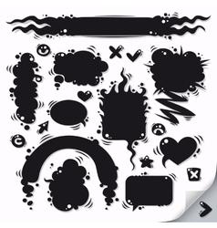 Cartoon Speech Bubbles Collection vector image