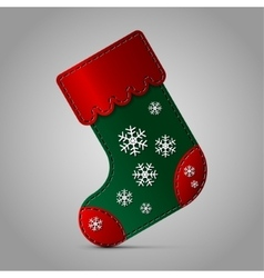 Christmas sock - with snowflakes vector