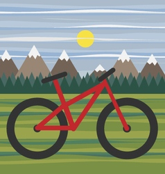 Mountain landscape for eco bike tourism vector