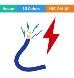 Flat design icon of wire vector