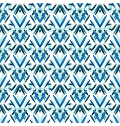 Blue art deco pattern vector
