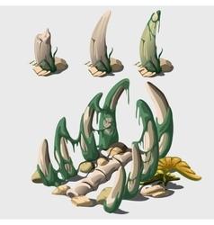 Ancient bones of big animal vector