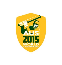 Australia cricket 2015 world champions shield vector