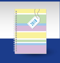 Cover of diary or notebook pastel colored vector