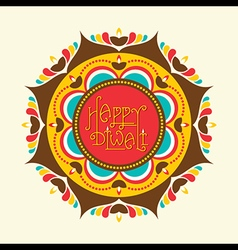 Creative happy diwali greeting card design vector