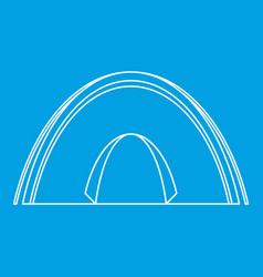Dome tent icon outline style vector