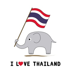Elephant hold thai flag1 vector
