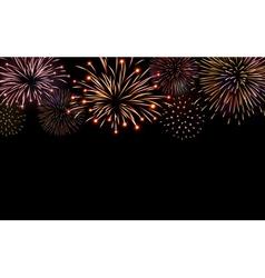 Firework bursting sparkle background set vector