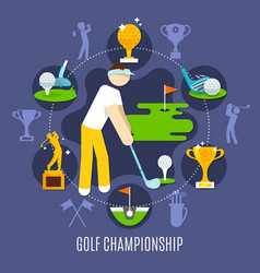 golf championship round composition vector image