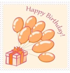 Happy Birthday card4 vector image vector image