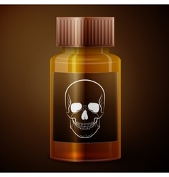 Medicine bottle with poisonous liquid vector