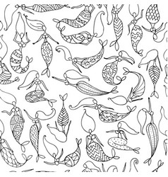 Mermaids sketch seamless pattern for your design vector