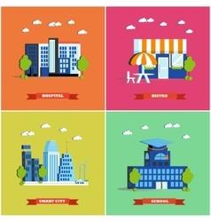 Modern cityscape city vector